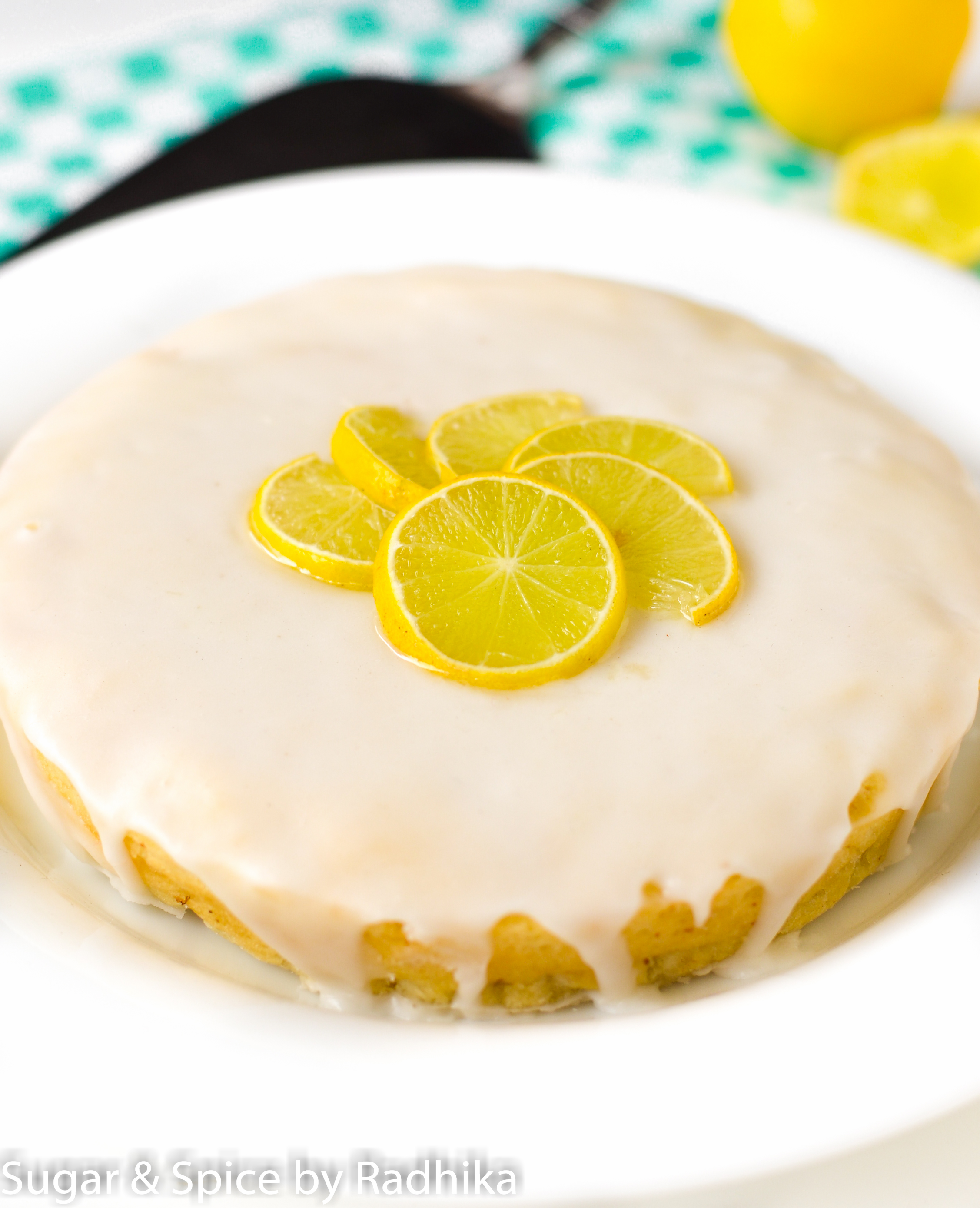 Eggless Lemon Drizzle Cake Recipe