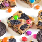 Cookie Bars with Oreo and Gems
