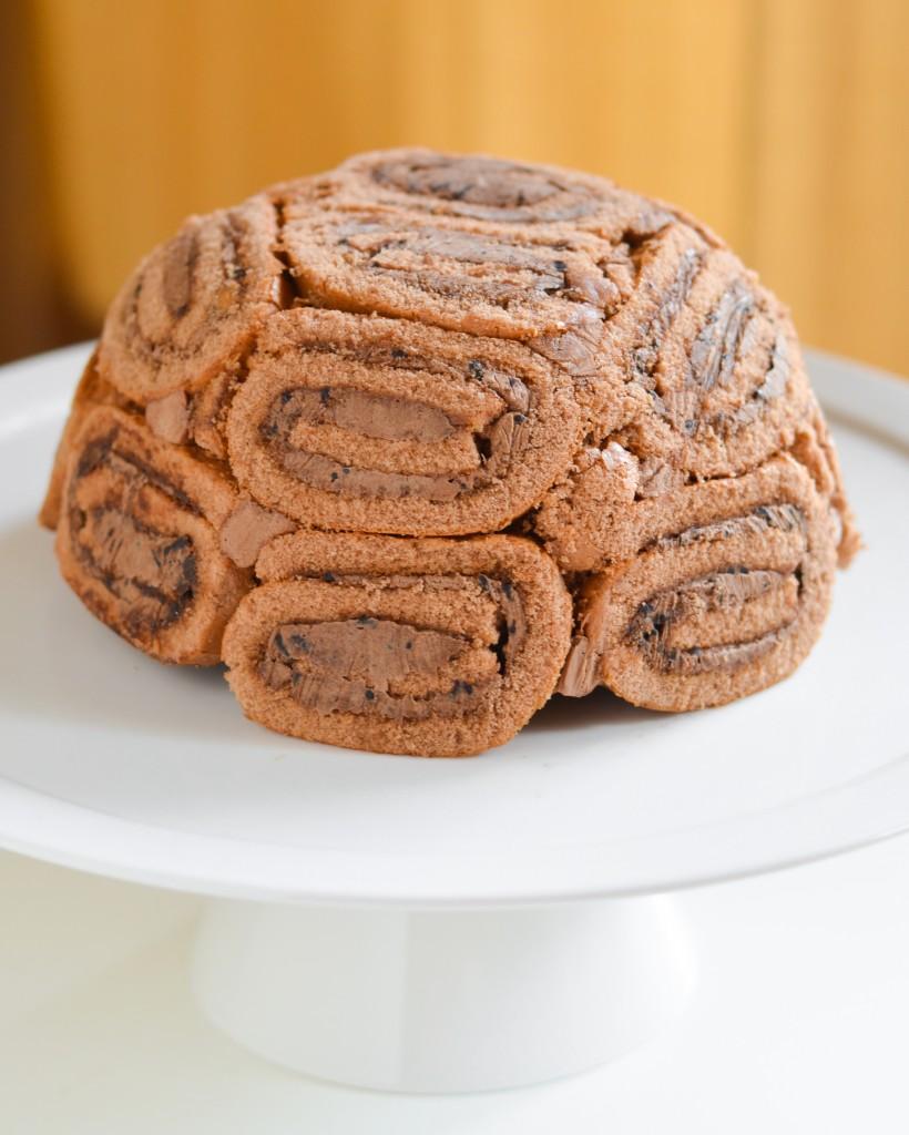 Swiss Roll Ice Cream Cake