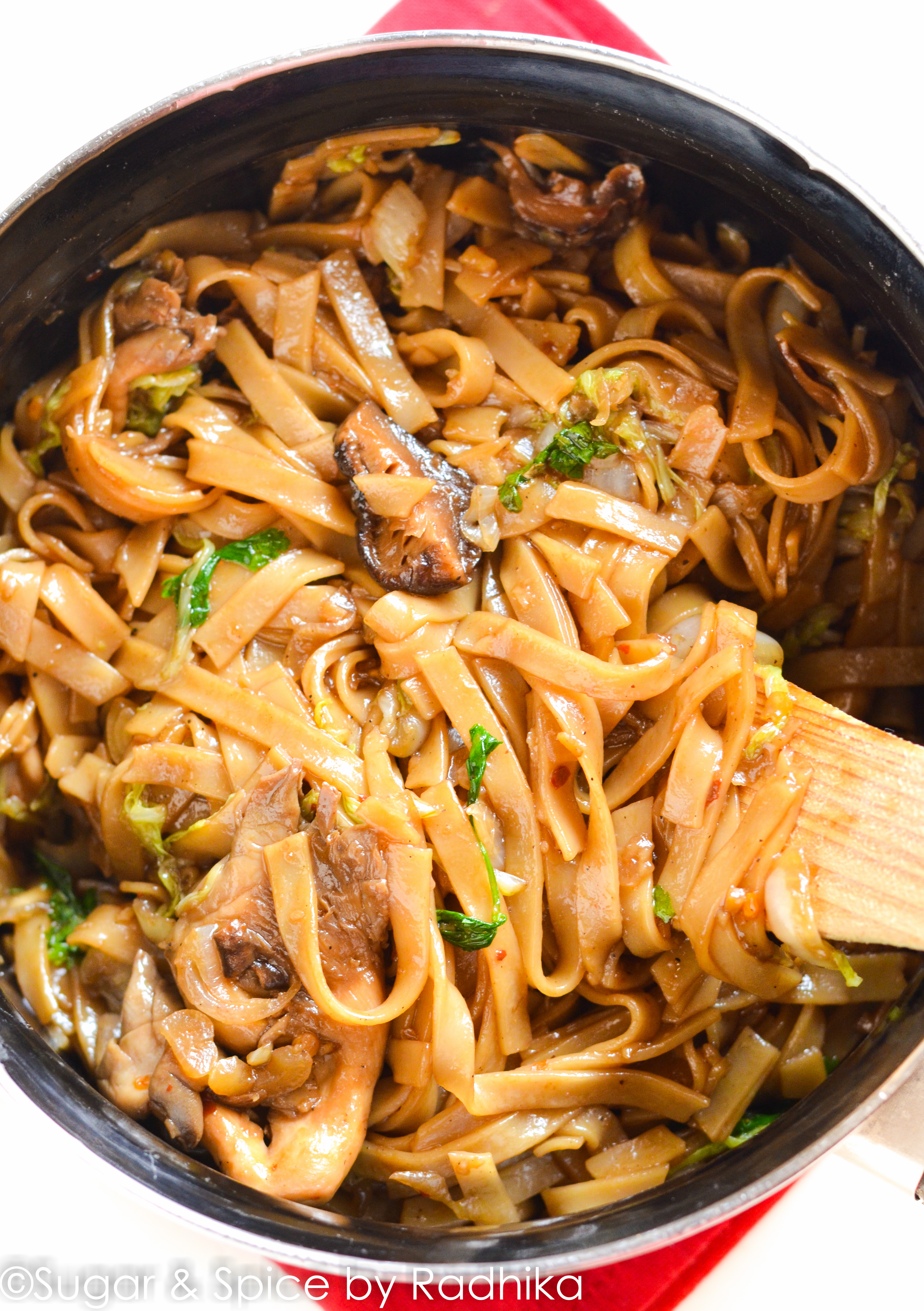 Rice Stick Noodles With Shiitake And Oyster Mushrooms  Cook Gourmet