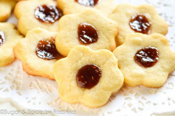 Thumbprint Raspberry Jam Cookies